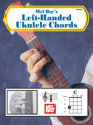 Left Handed Ukulele Chords Book Mel Bay Publications Inc Mel Bay