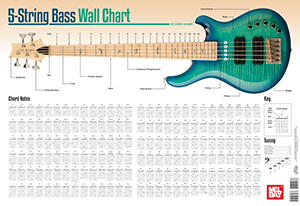 5 string bass chord wall chart wall chart mel bay publications inc mel bay. Black Bedroom Furniture Sets. Home Design Ideas