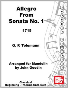 Allegro  from Sonata no. 1 for Violin