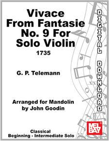 Vivace from Fantasie no. 9 for Solo Violin