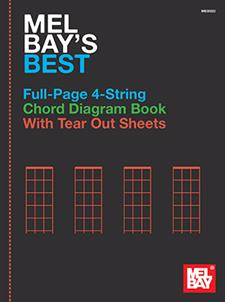 Mel Bay's Best Full-Page 4-String Chord Diagram Book