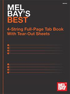 Mel Bay's Best 4-String Full-Page Tab Book
