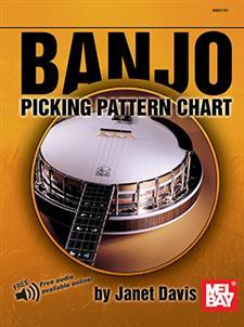 banjo picking pattern chart janet davis new 786681705 ebay. Black Bedroom Furniture Sets. Home Design Ideas