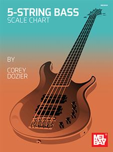 5 string bass scale chart chart mel bay publications inc mel bay. Black Bedroom Furniture Sets. Home Design Ideas